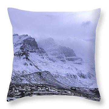 Columbia Ice Fields Throw Pillow