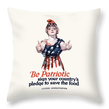 Columbia Invites You To Save Food Throw Pillow by War Is Hell Store