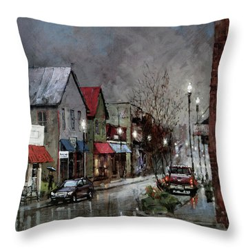 Columbia Rain Throw Pillow