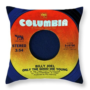 Columbia Records And Billy Joel Throw Pillow