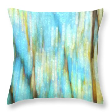 Columbia River Abstract Throw Pillow by Theresa Tahara