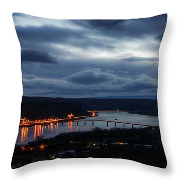 Throw Pillow featuring the photograph Columbia River by Cat Connor