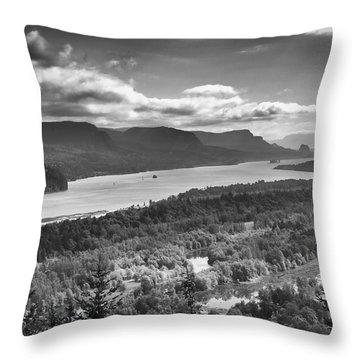 Columbia River Gourge Throw Pillow