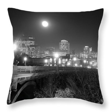 Columbia Skyline At Night Throw Pillow