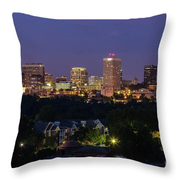 Columbia Skyline At Twilight Throw Pillow