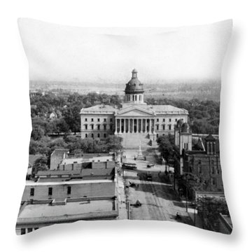 Columbia South Carolina - State Capitol Building - C 1905 Throw Pillow by International  Images