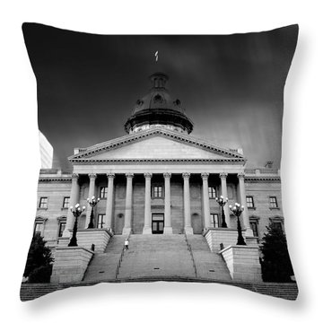 Columbia South Carolina State House Throw Pillow by Gray  Artus