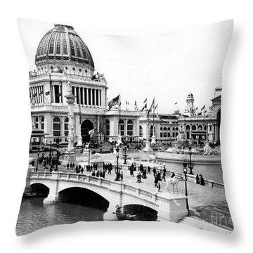Columbian Expo, 1893 Throw Pillow by Granger