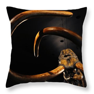 Columbian Mammoth La Brea Tar Pits Throw Pillow