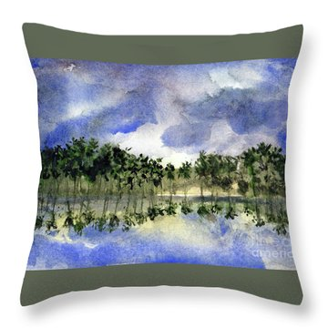 Columbian Shoreline Throw Pillow by Randy Sprout