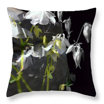 Columbine Shades Of Grey Throw Pillow