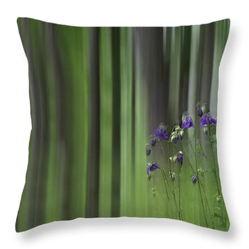 Columbine Spring Throw Pillow