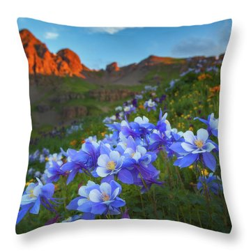 Columbine Sunrise Throw Pillow