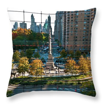 Columbus Circle Throw Pillow by S Paul Sahm