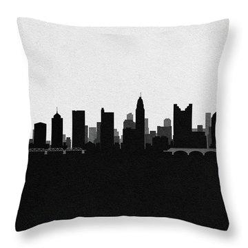 Columbus Cityscape Art Throw Pillow
