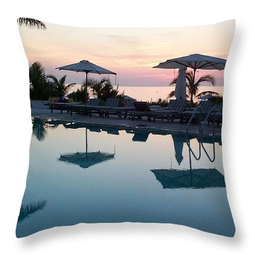 Throw Pillow featuring the photograph Columbus Isle by Mary-Lee Sanders