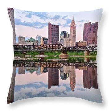 Columbus Ohio Reflects Throw Pillow