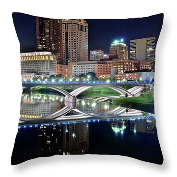 Columbus Over The Scioto Throw Pillow