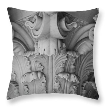 Column Capital Detail 1 Throw Pillow