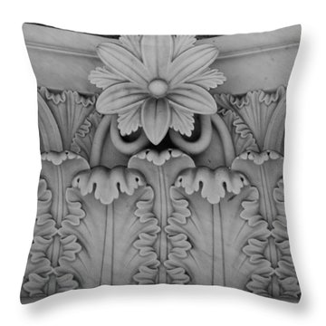 Column Capital Detail 2 Throw Pillow