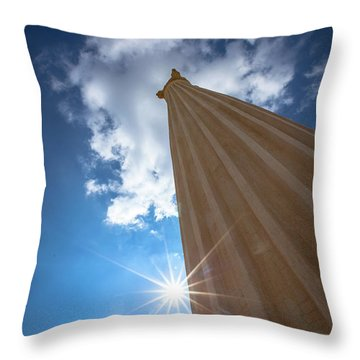 Column To Sky Throw Pillow