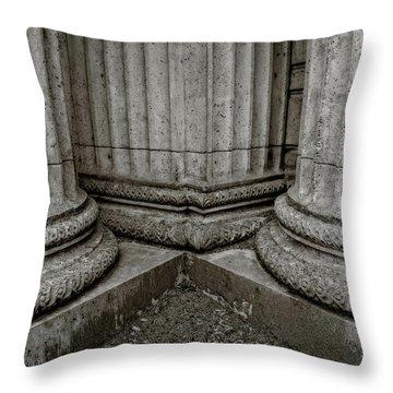 Columns #1 Throw Pillow