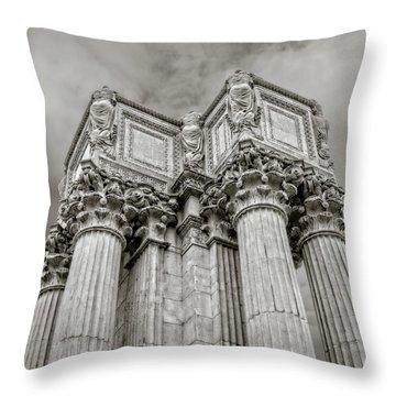 Columns #2 Throw Pillow