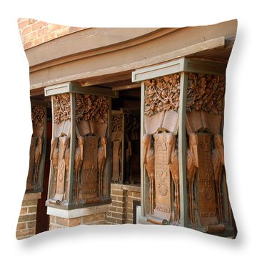 Columns At Frank Lloyd Wright Studio Throw Pillow