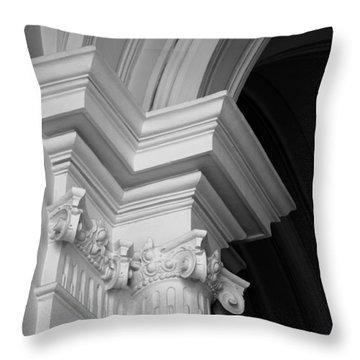 Columns At Hermitage Throw Pillow