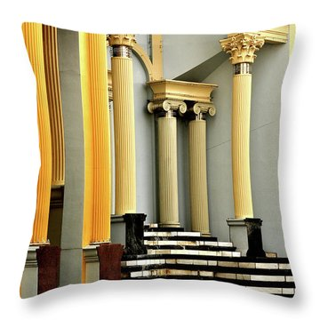 Columns At Plaza De Italia Throw Pillow