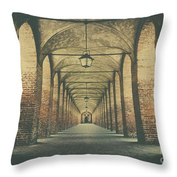 Columns In Sabbionetta, Italy Throw Pillow