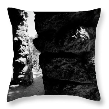 Columns Of The Park Guell Throw Pillow