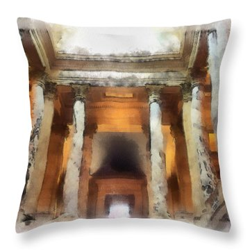 Columns Throw Pillow by Paulette B Wright