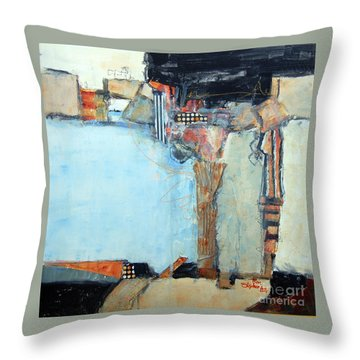 Columns Throw Pillow by Ron Stephens
