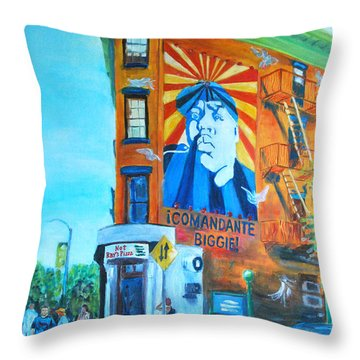 Comandante Biggie Throw Pillow by Wayne Pearce
