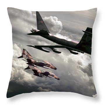 Combat Air Patrol Throw Pillow by Peter Chilelli