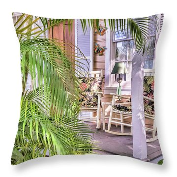 Come And Sit Awhile Throw Pillow