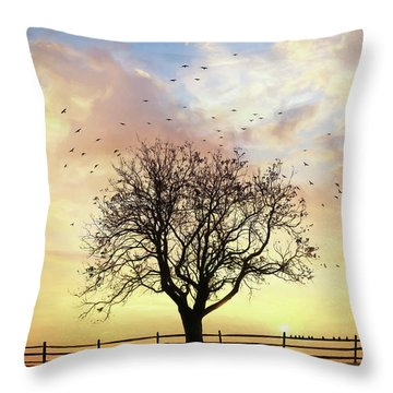 Throw Pillow featuring the photograph Come Fly Away by Lori Deiter