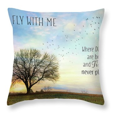 Throw Pillow featuring the photograph Come Fly With Me by Lori Deiter