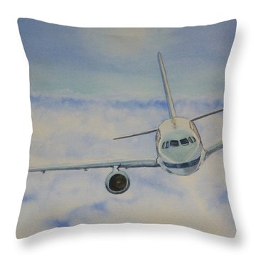 Come Fly With Me.... Plane Throw Pillow