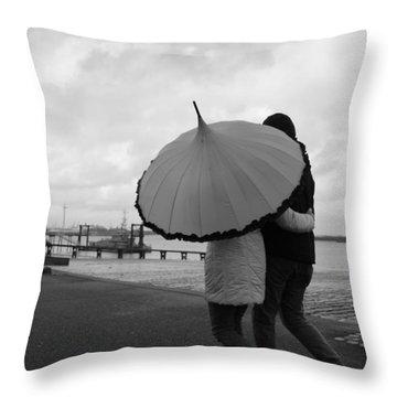 Come Rain Or Shine Throw Pillow