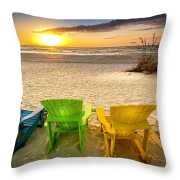 Come Relax Enjoy Throw Pillow