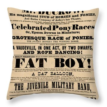 Come See The Fat Boy Throw Pillow