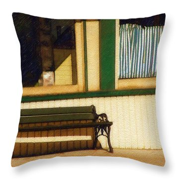 Throw Pillow featuring the photograph Come Sit A Spell by Sandy MacGowan