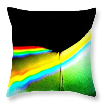 Come-sit In My Rainbow Throw Pillow