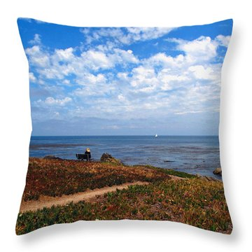 Throw Pillow featuring the photograph Come Sit With Me by Joyce Dickens