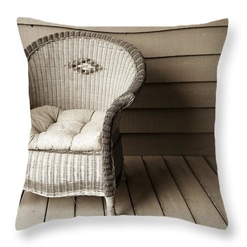Come Sit With Me Throw Pillow by Marilyn Hunt