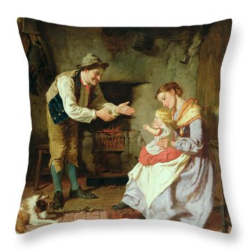Come To Daddy Throw Pillow by William Henry Midwood