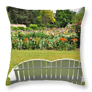 Come To The Garden  Throw Pillow by Mindy Bench