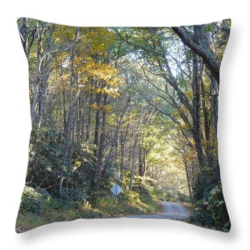 Come Walk Into Autumn With Me Throw Pillow
